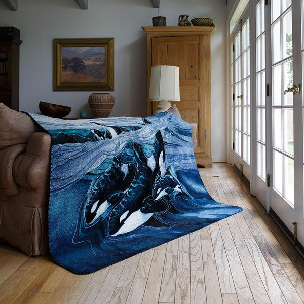 Beauty, Strength, & Power Denali Blanket - unique linens online