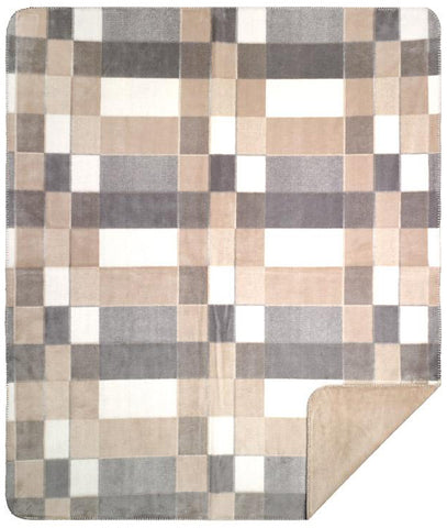 Gray Plaid Denali Blanket - unique linens online