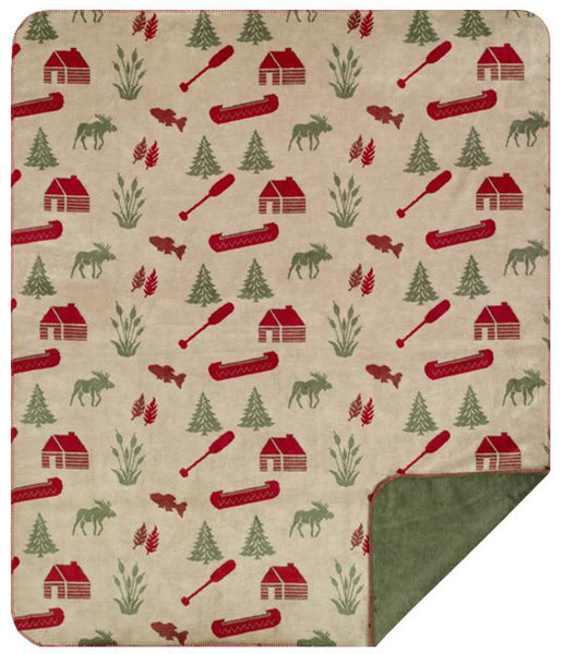 Moose Camp Denali Blanket - unique linens online