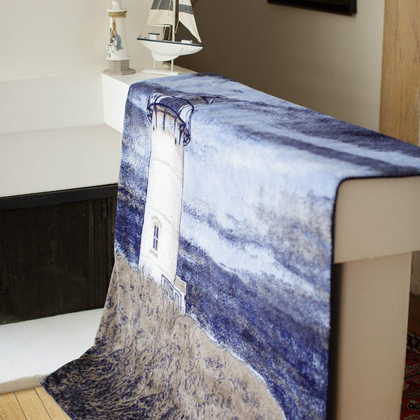 Lighthouse Denali Blanket - unique linens online