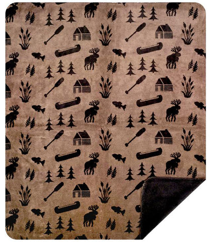 Taupe Camp Denali Blanket - Unique Linens Online