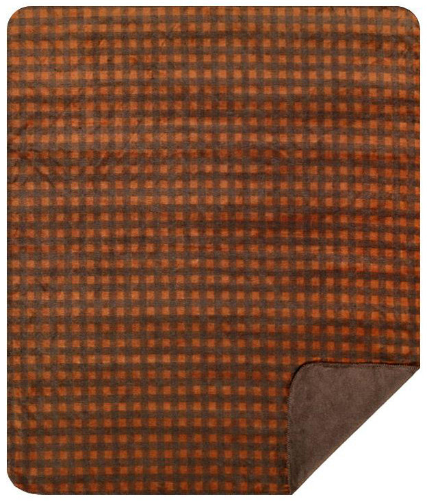 Gold Taupe Buffalo Checks Denali Blanket - unique linens online