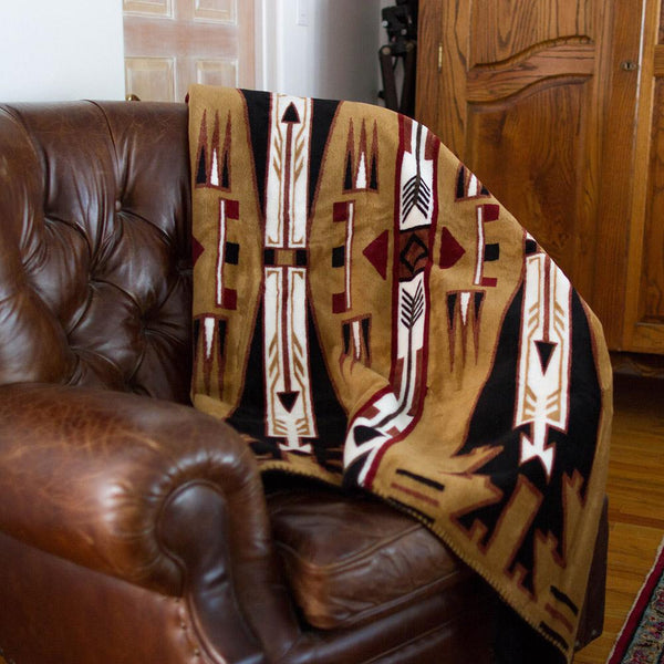 Horse Thieves Brown Denali Blanket - unique linens online