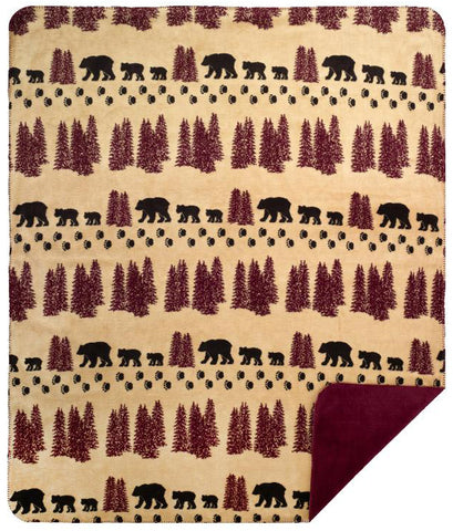 Wheat Denali Bear Denali Blanket - Unique Linens Online