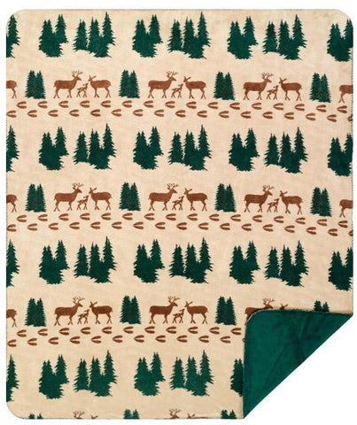 Denali Deer Throw Blanket - Unique Linens Online