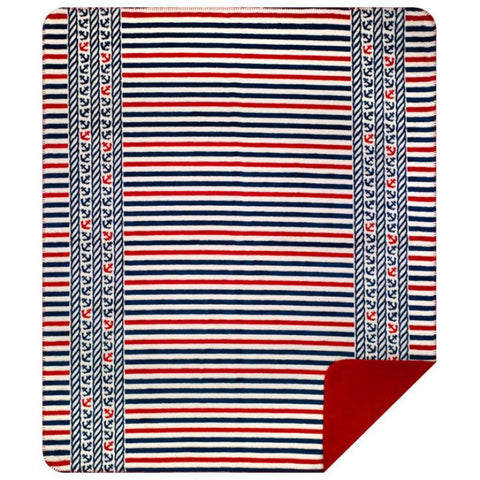 Captain's Stripes Denali Blanket - unique linens online