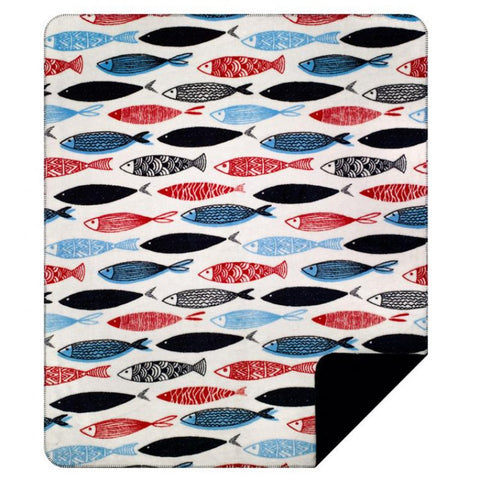 Swimming Upstream Denali Blanket - unique linens online