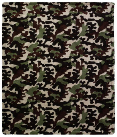 Camouflage Dark Chocolate Denali Baby Blanket - unique linens online