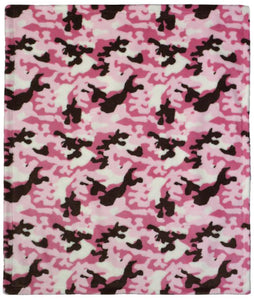 Camouflage Soft Pink Denali Baby Blanket - unique linens online
