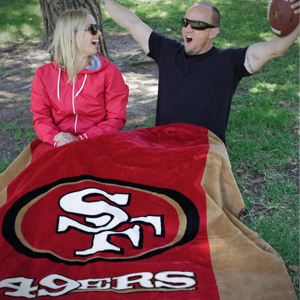 San Francisco 49ers NFL Denali Throw Blanket - unique linens online