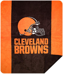 Cleveland Browns NFL Denali Throw Blanket - unique linens online
