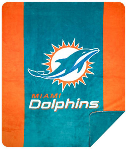 Miami Dolphins NFL Denali Throw Blanket - unique linens online