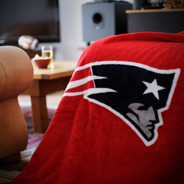 New England Patriots NFL Denali Throw Blanket - unique linens online
