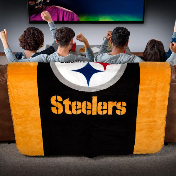 Pittsburgh Steelers NFL Denali Throw Blanket - unique linens online
