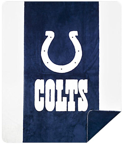 Indianapolis Colts NFL Denali Throw Blanket - unique linens online