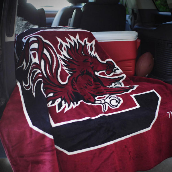 South Caroline Gamecocks Denali Blanket - Unique Linens Online