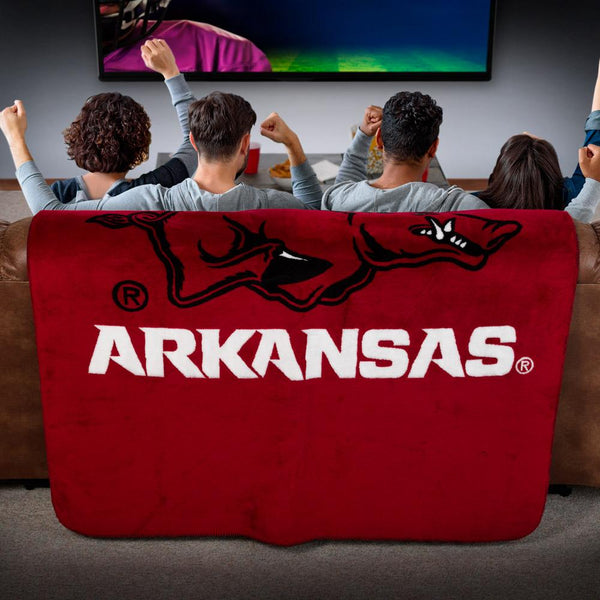 Arkansas Razorbacks Denali Blanket - unique linens online