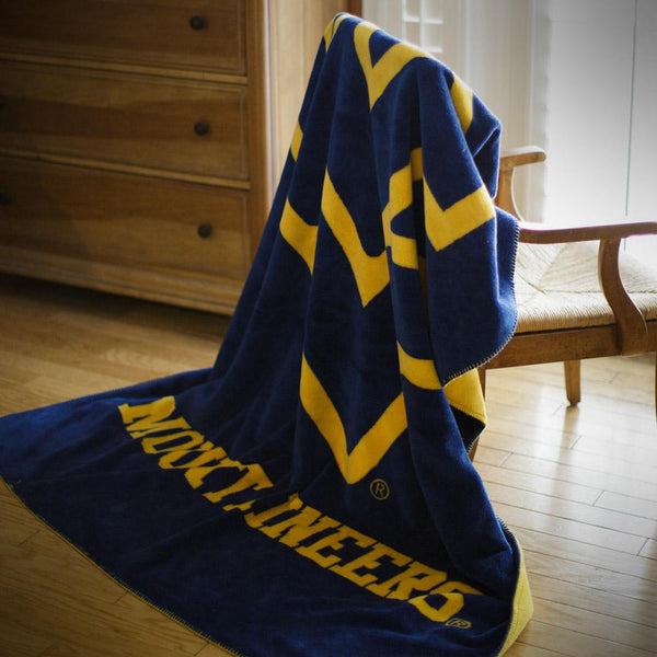 West Virginia Mountaineers Denali Blanket - unique linens online