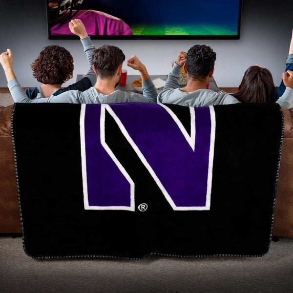 Northwestern Wildcats Denali Blanket - unique linens online