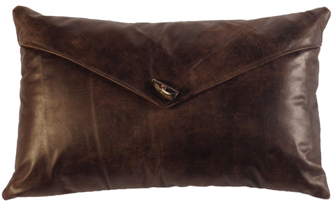 Leather Envelope Pillow Wooded River WD1480 - unique linens online