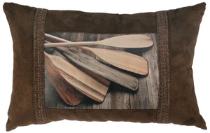 Lake Shore II Oblong Pillow Wooded River - unique linens online