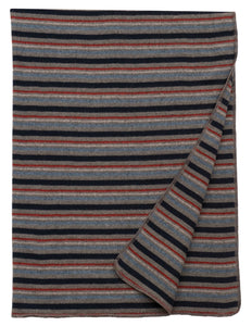 Alpine Stripe Throw Wooded River - unique linens online