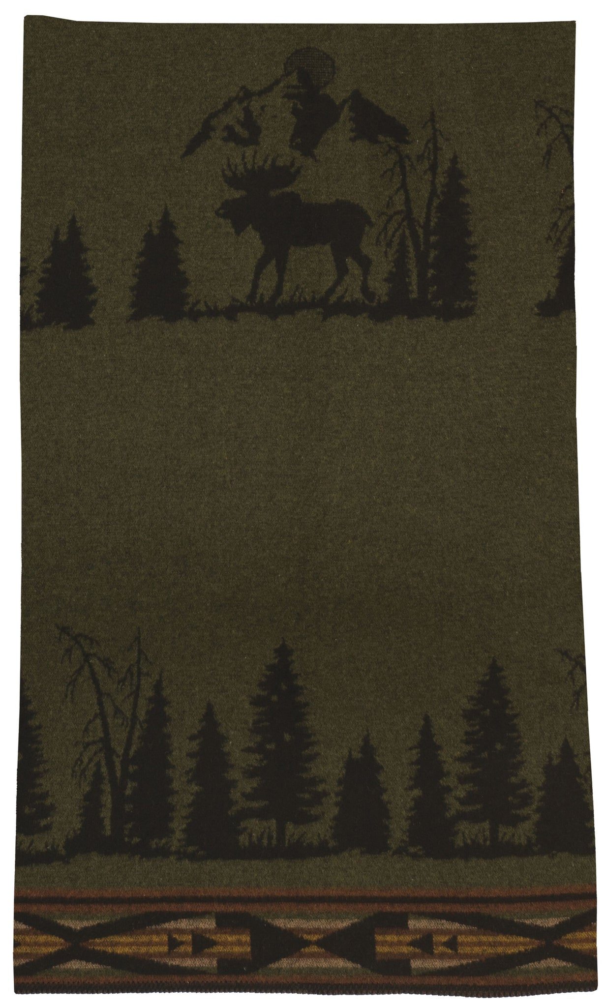 Moose 1 Throw Wooded River - unique linens online