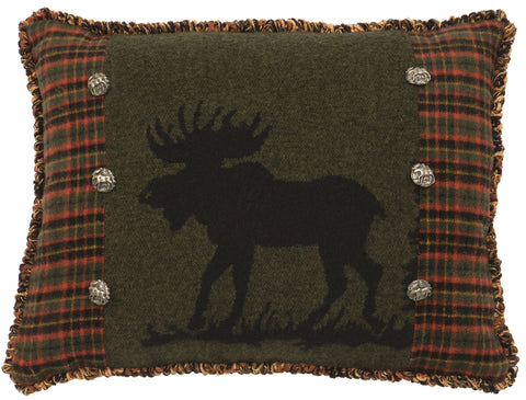 Moose 1 Oblong Pillow Wooded River - unique linens online