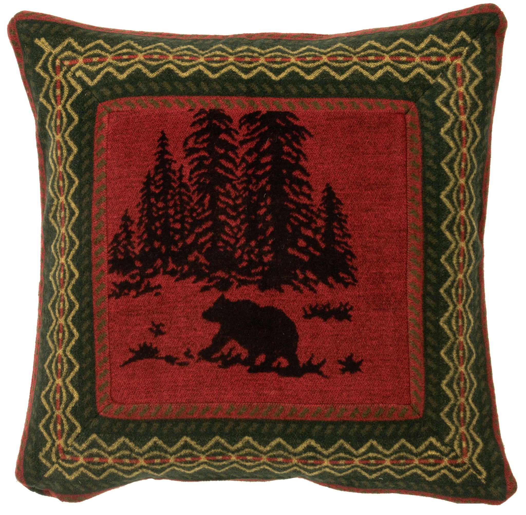 Wooded River Bear Eurosham Wooded River - unique linens online