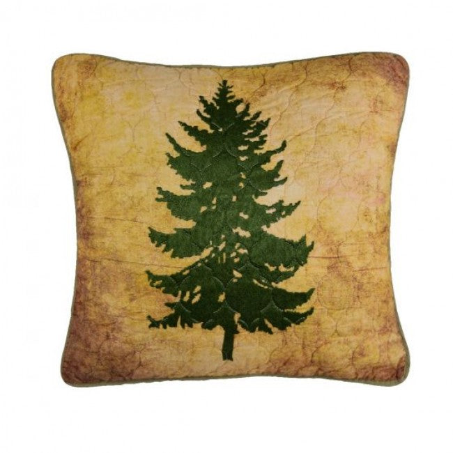 Wood Patch Tree Pillow - Unique Linens Online