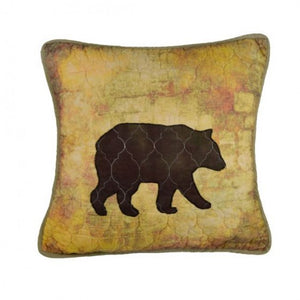Wood Patch Bear Pillow - Unique Linens Online