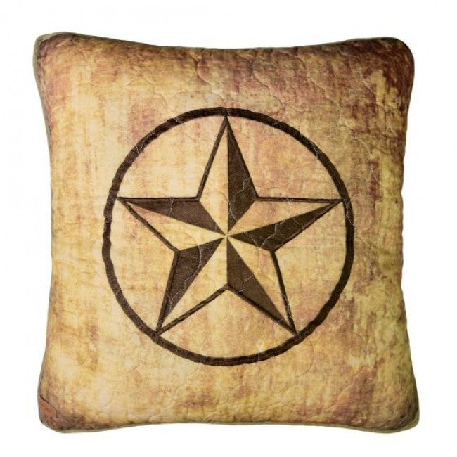 Wood Patch Star Pillow - unique linens online