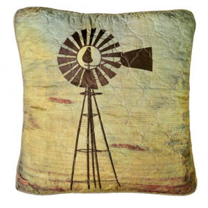Wood Patch Windmill Pillow - Unique Linens Online
