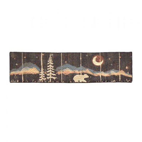 Moonlit Bear Valance - unique linens online