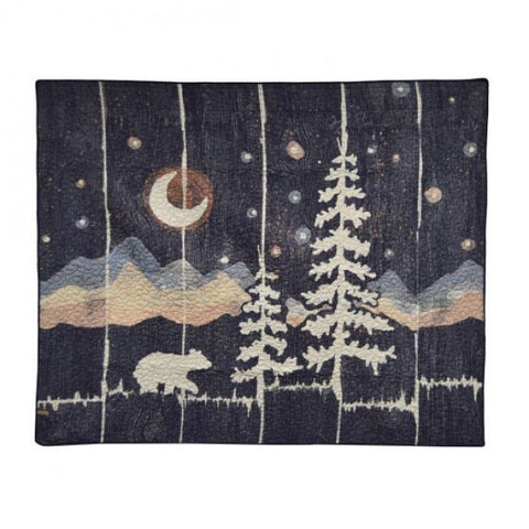 Moonlit Bear Throw - unique linens online