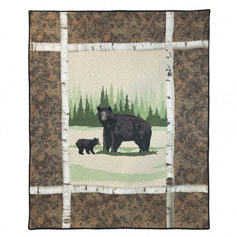 Birch Bear Throw - unique linens online