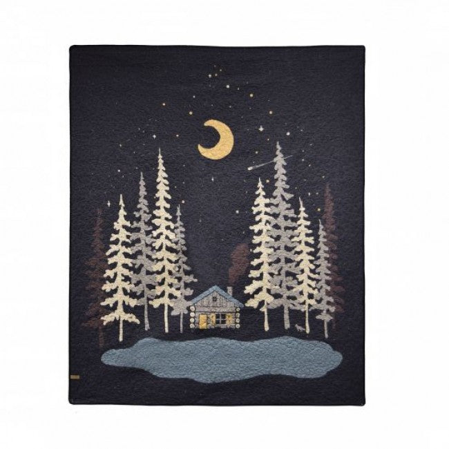 Moonlit Cabin Throw - unique linens online