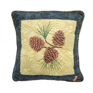Cabin Raising Pinecone Pillow - unique linens online