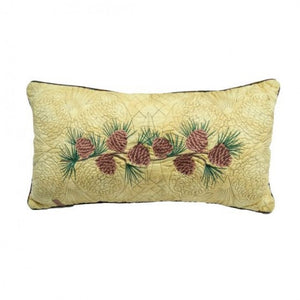 Cabin Raising Pinecone Oblong Pillow - unique linens online