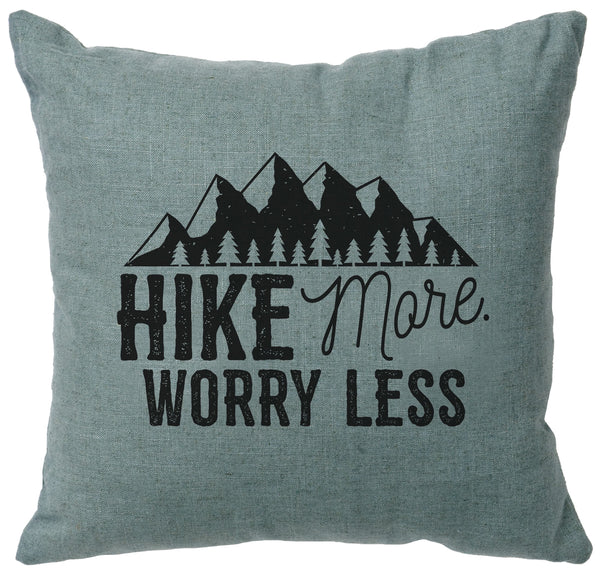 Hike More Decorative Linen Pillow Wooded River - unique linens online