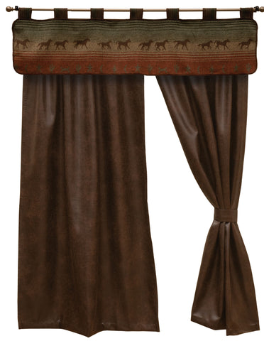 Mustang Canyon II Drape Sets Wooded River - unique linens online