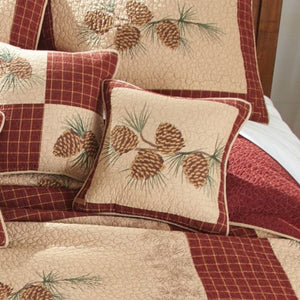 Pine Lodge Pine Branch Pillow - unique linens online