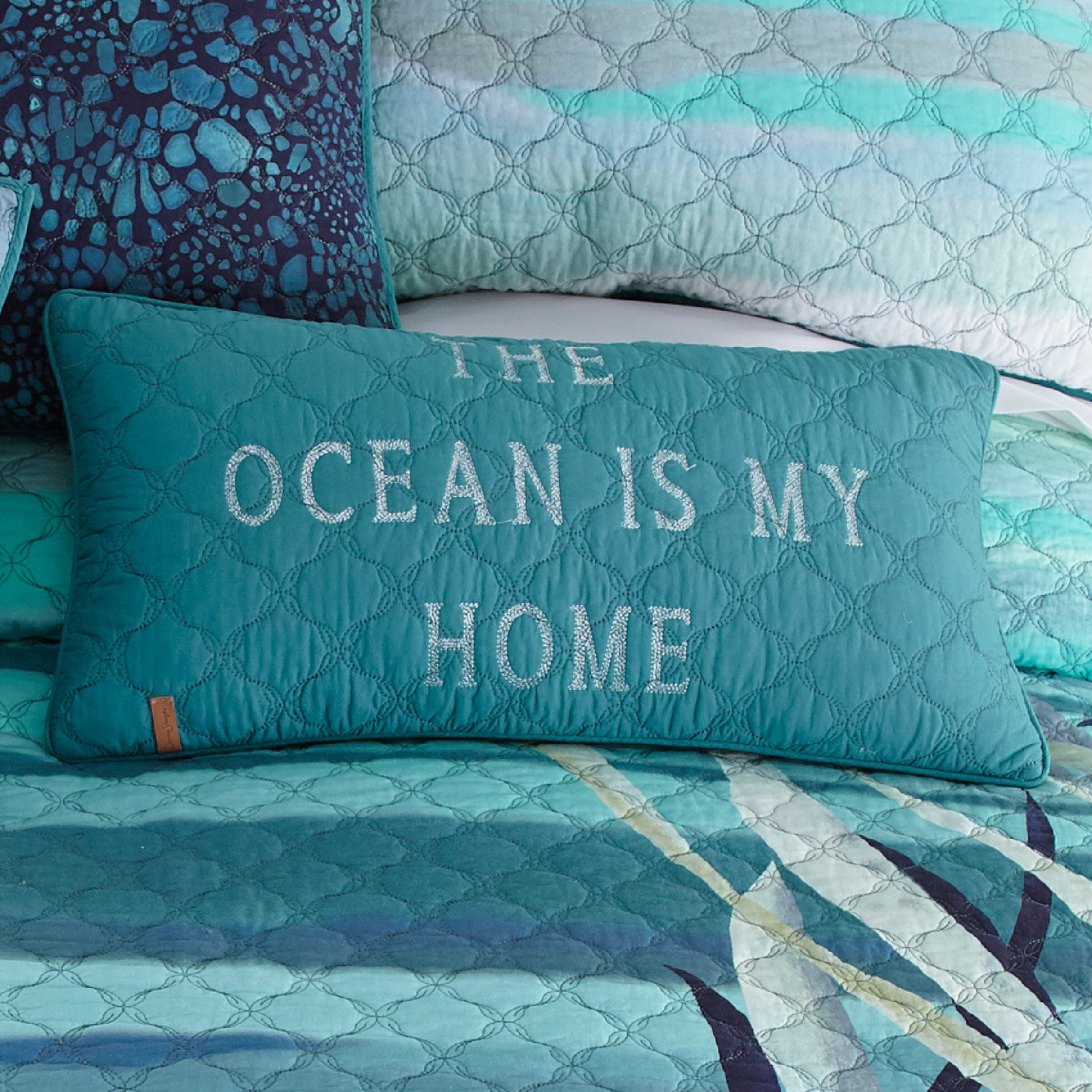 Summer Surf Rectangle Decorative Pillow - unique linens online