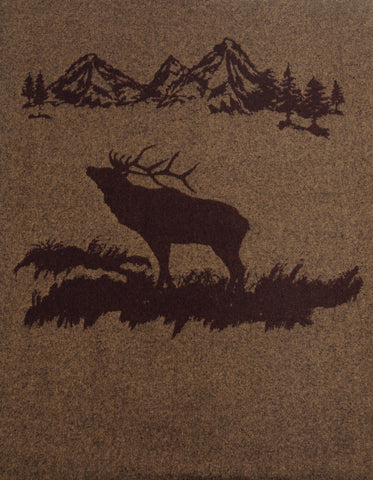 Rocky Mountain Elk Throw Wooded River - unique linens online