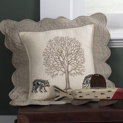 Bear Creek Bears Pillow - unique linens online