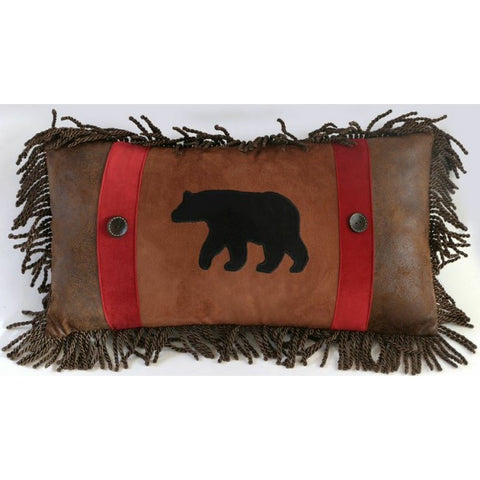Backwoods Rambling Bear Pillow Carstens - unique linens online