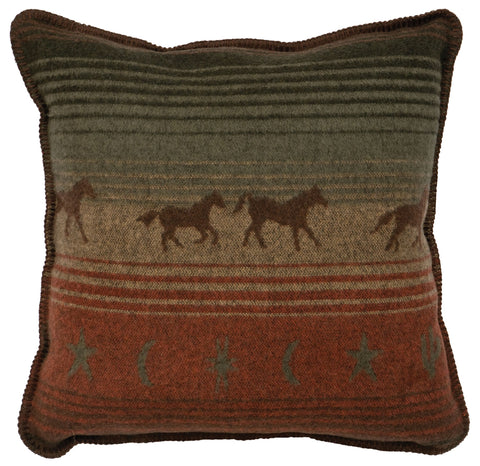 Mustang Canyon II Pillow Wooded River - unique linens online
