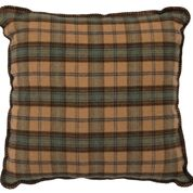 Lake Shore II Dillon Plaid Pillow Wooded River - unique linens online