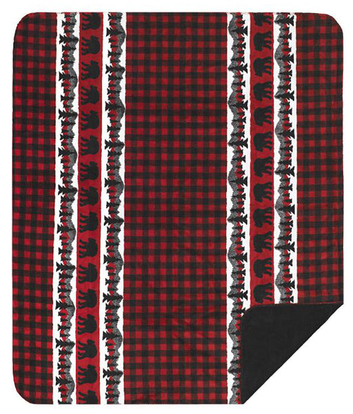Bear Plaid Denali Blanket - unique linens online