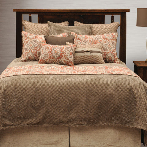 Brio Henna Coverlet Wooded River - Unique Linens Online